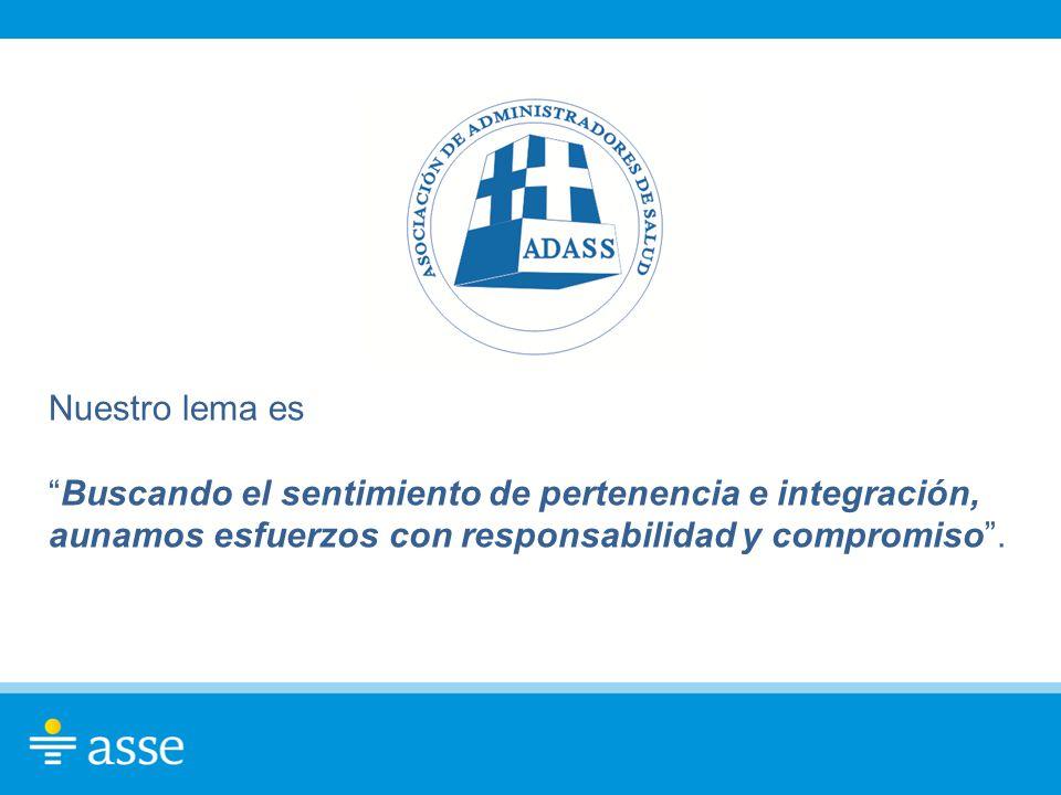 Nuestro lema es Buscando el sentimiento de pertenencia e integración, aunamos esfuerzos con responsabilidad y compromiso .