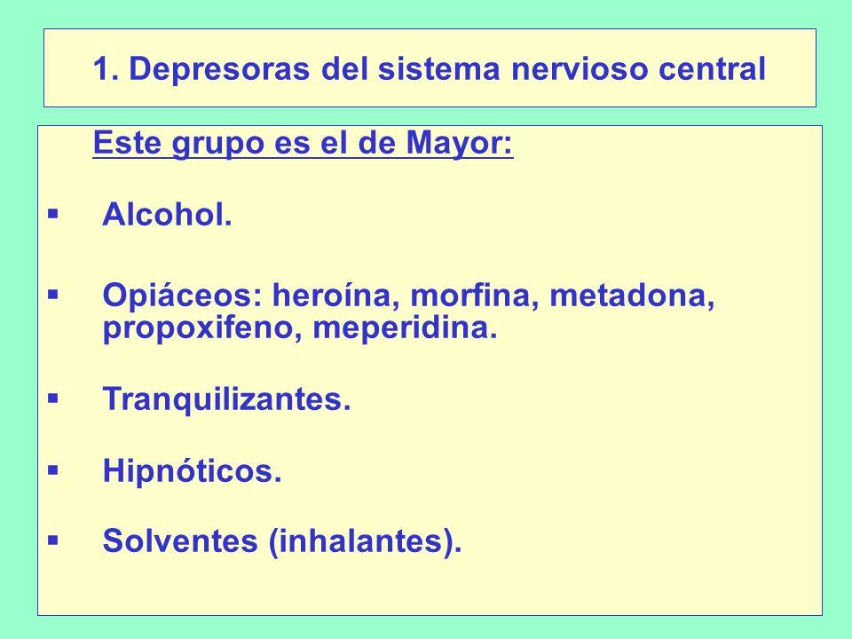 1. Depresoras del sistema nervioso central