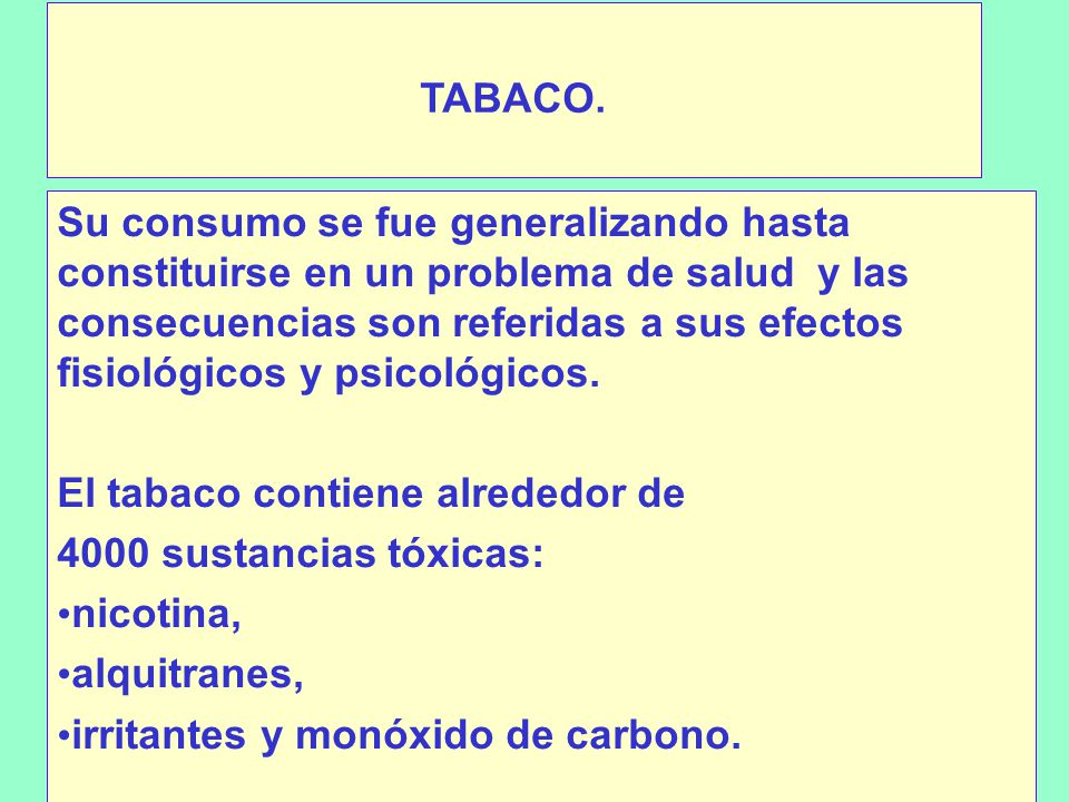 TABACO.
