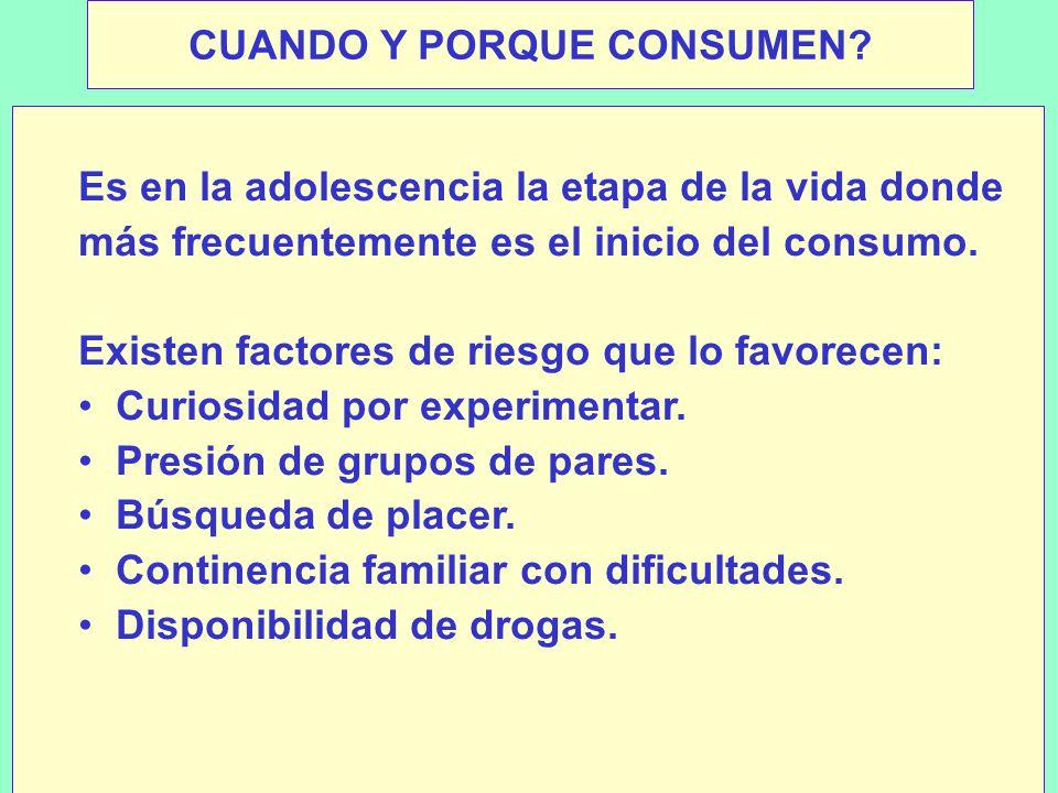 CUANDO Y PORQUE CONSUMEN