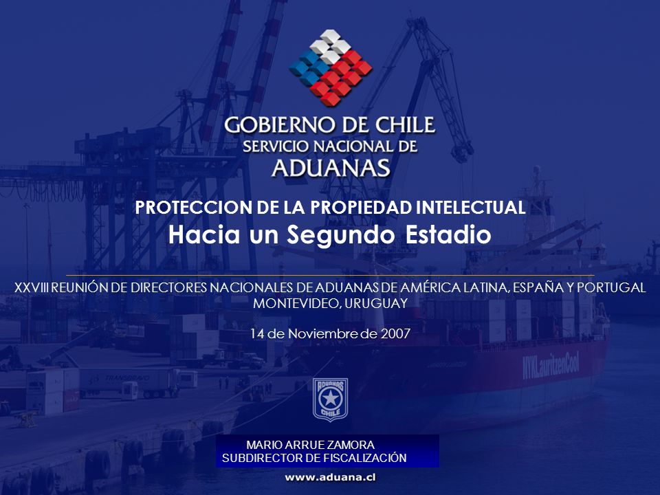 PROTECCION DE LA PROPIEDAD INTELECTUAL Hacia un Segundo Estadio