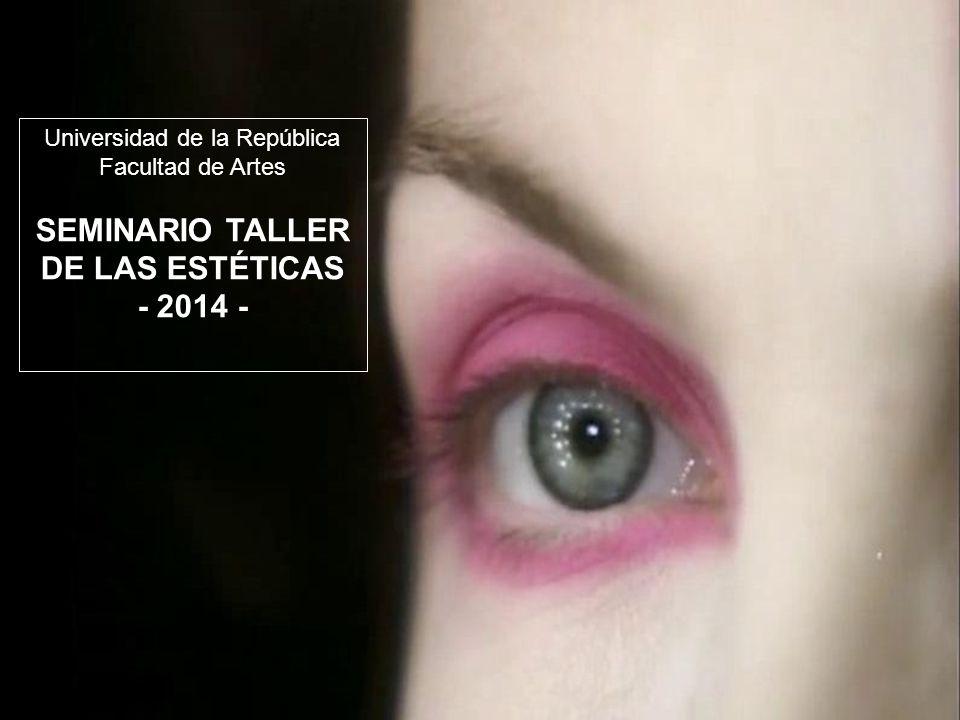 SEMINARIO TALLER DE LAS ESTÉTICAS - 2014 -