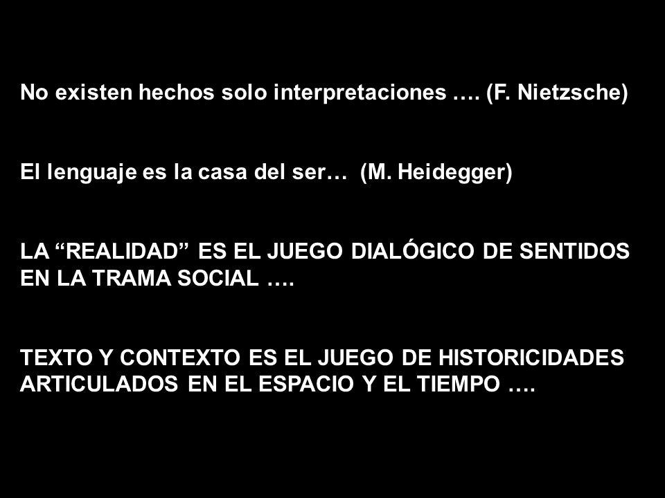 No existen hechos solo interpretaciones …. (F. Nietzsche)