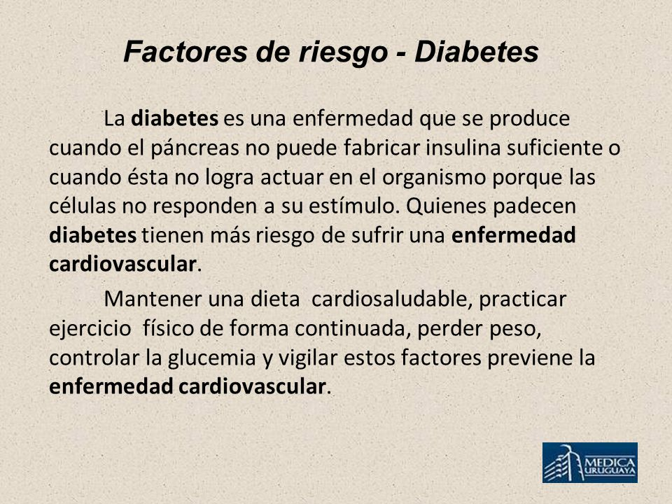 Factores de riesgo - Diabetes