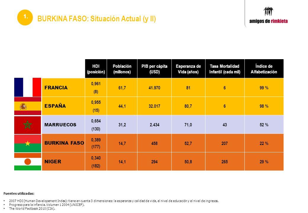 BURKINA FASO: Situación Actual (y II)