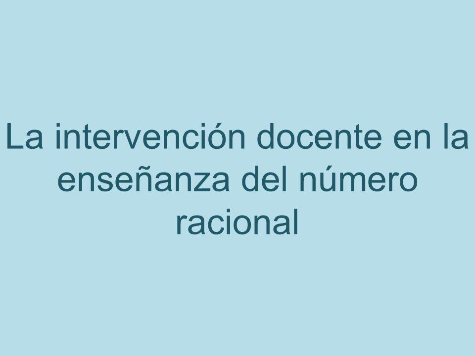 La intervención docente en la enseñanza del número racional