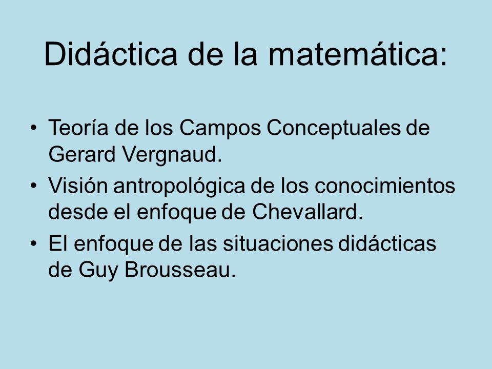 Didáctica de la matemática: