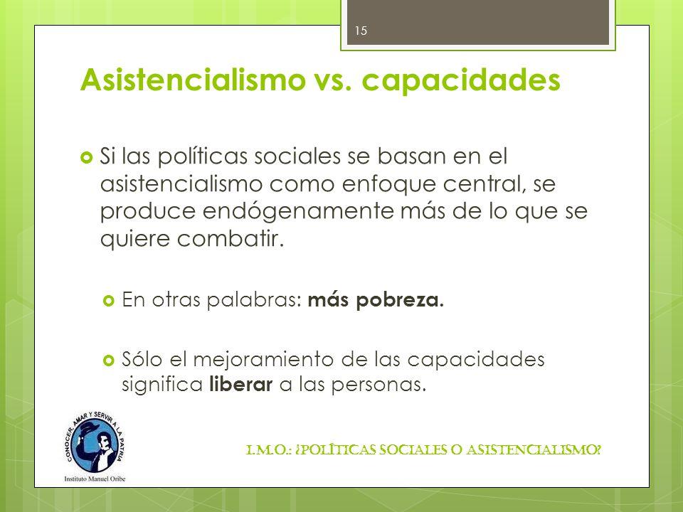 Asistencialismo vs. capacidades