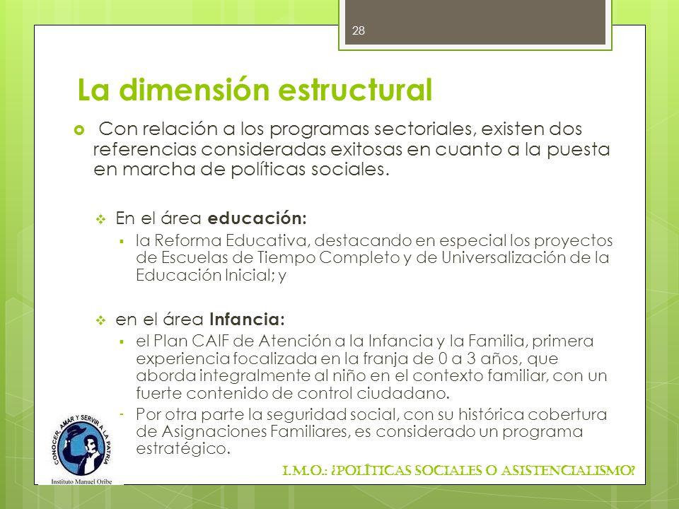 La dimensión estructural