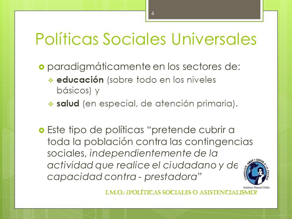 Políticas Sociales Universales