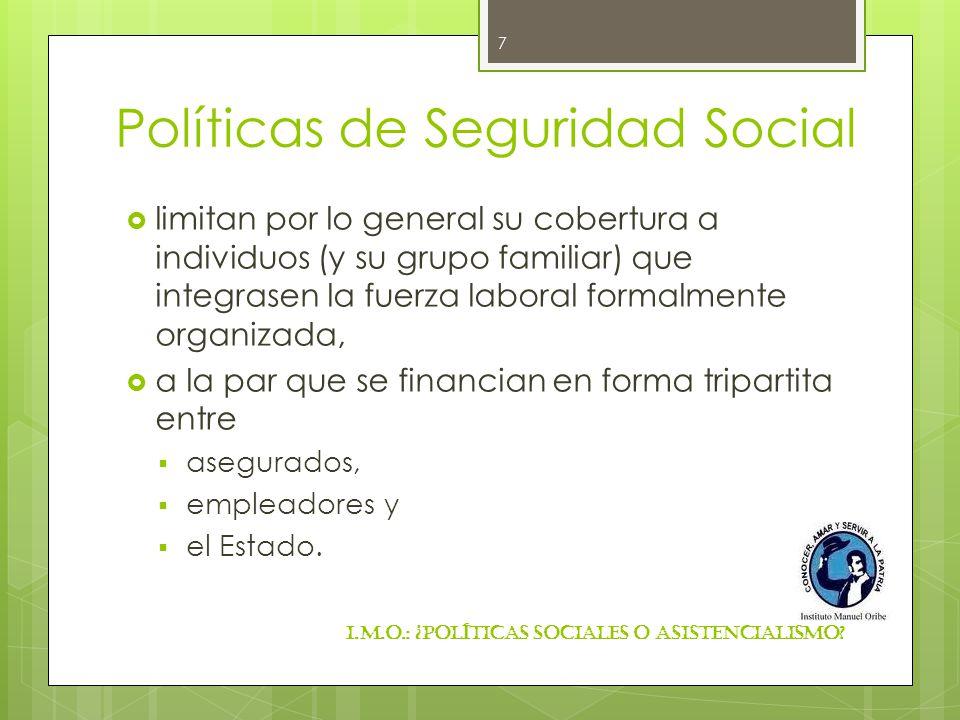 Políticas de Seguridad Social
