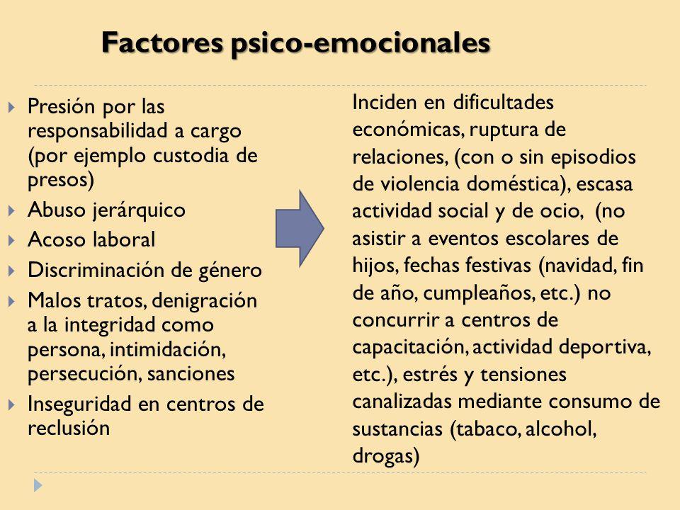 Factores psico-emocionales