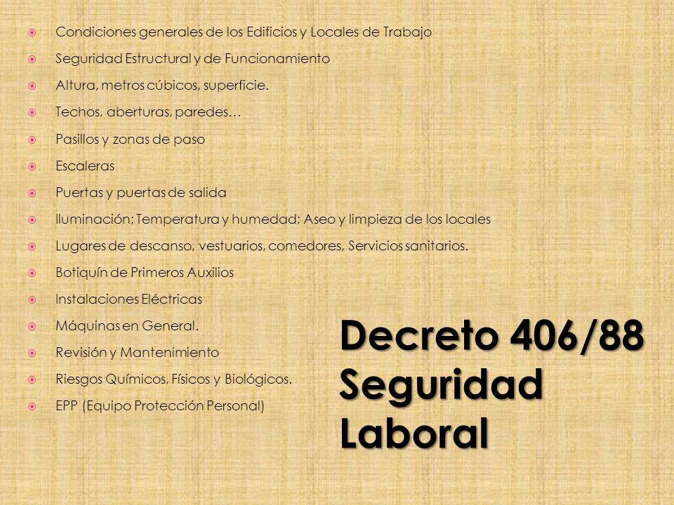Decreto 406/88 Seguridad Laboral