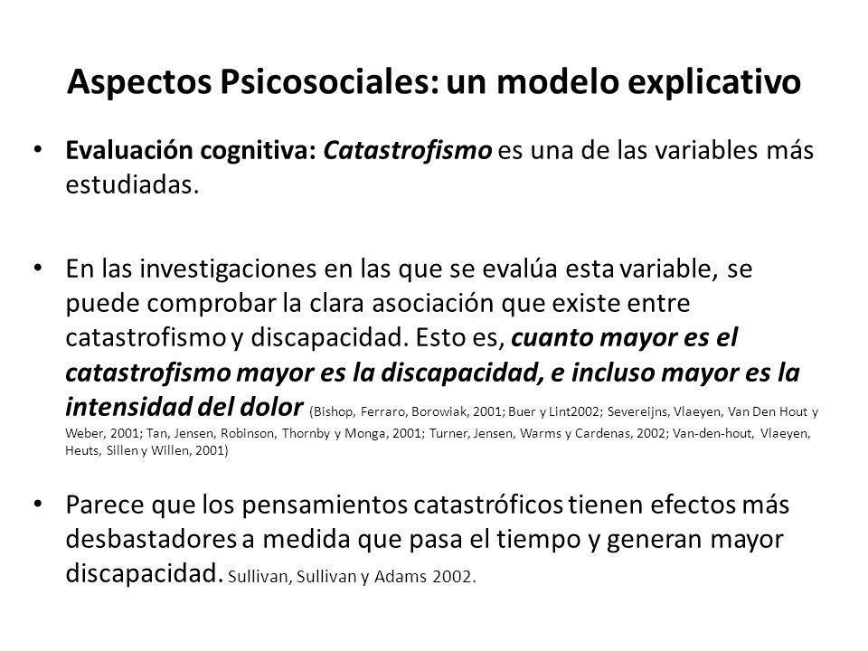Aspectos Psicosociales: un modelo explicativo