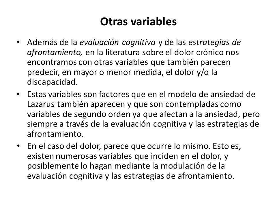 Otras variables
