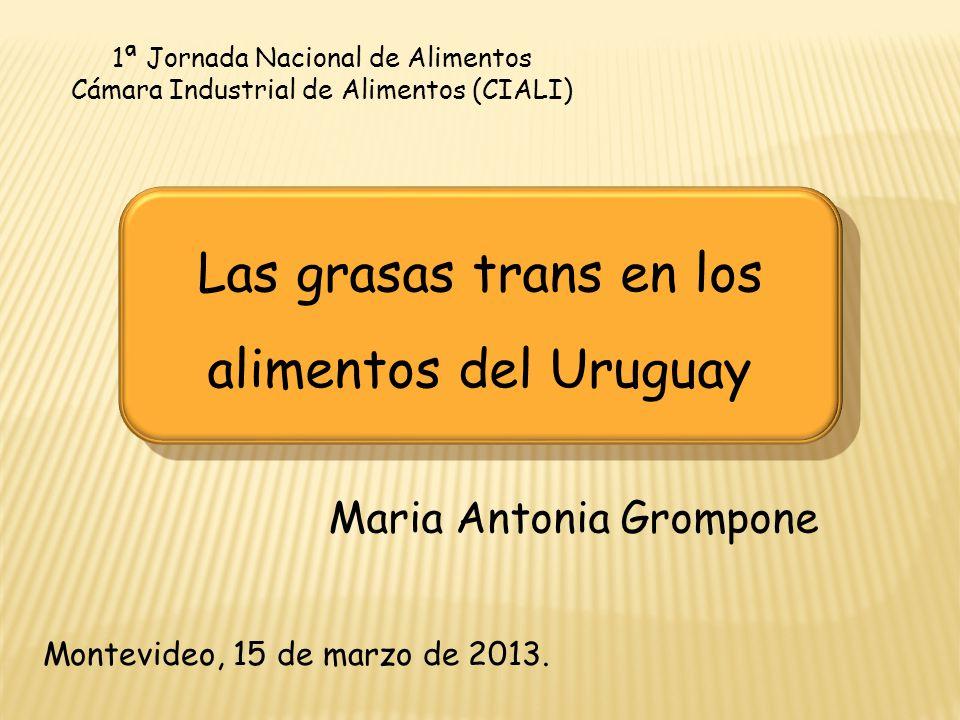 Las grasas trans en los alimentos del Uruguay