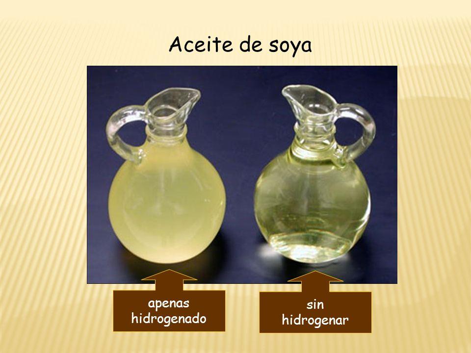 Aceite de soya apenas hidrogenado sin hidrogenar