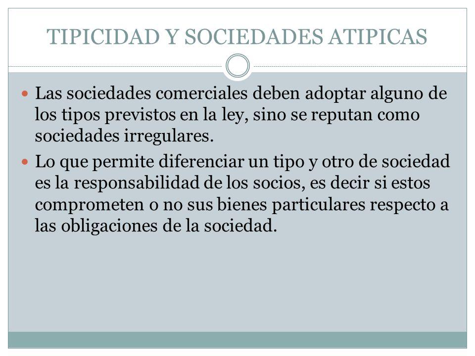 TIPICIDAD Y SOCIEDADES ATIPICAS