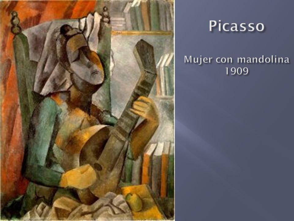 Picasso Mujer con mandolina 1909