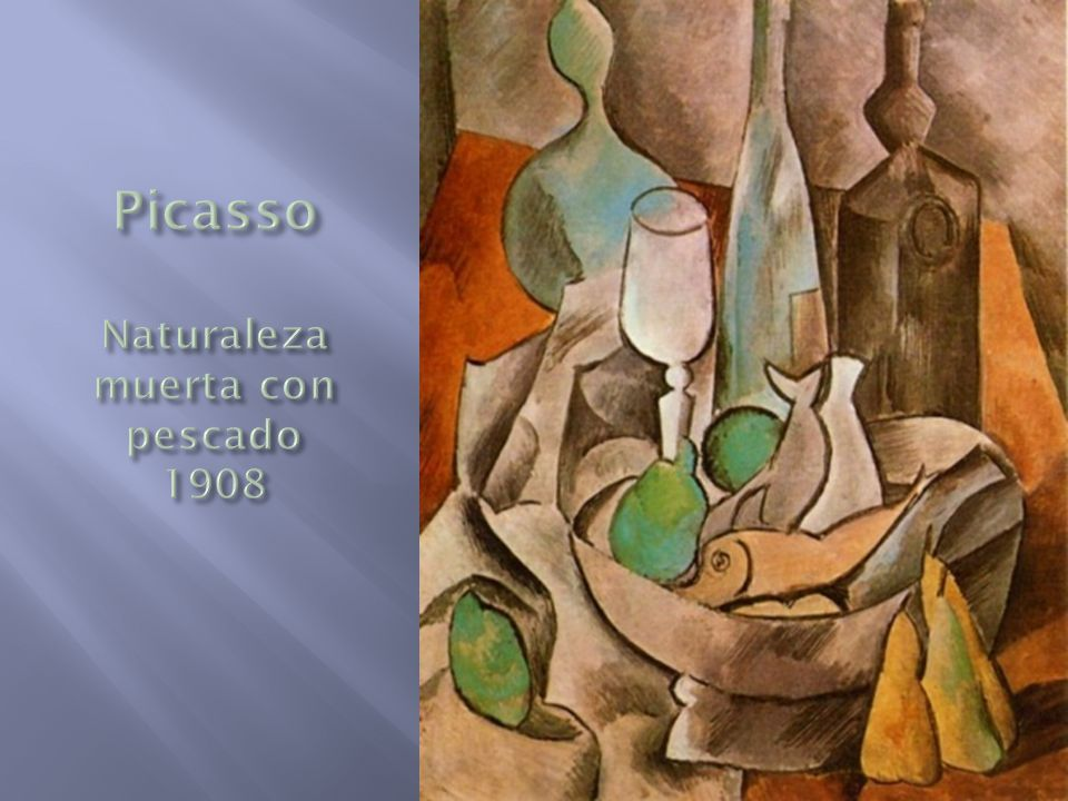 Picasso Naturaleza muerta con pescado 1908