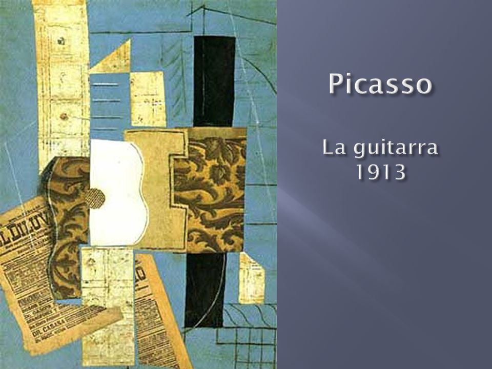 Picasso La guitarra 1913
