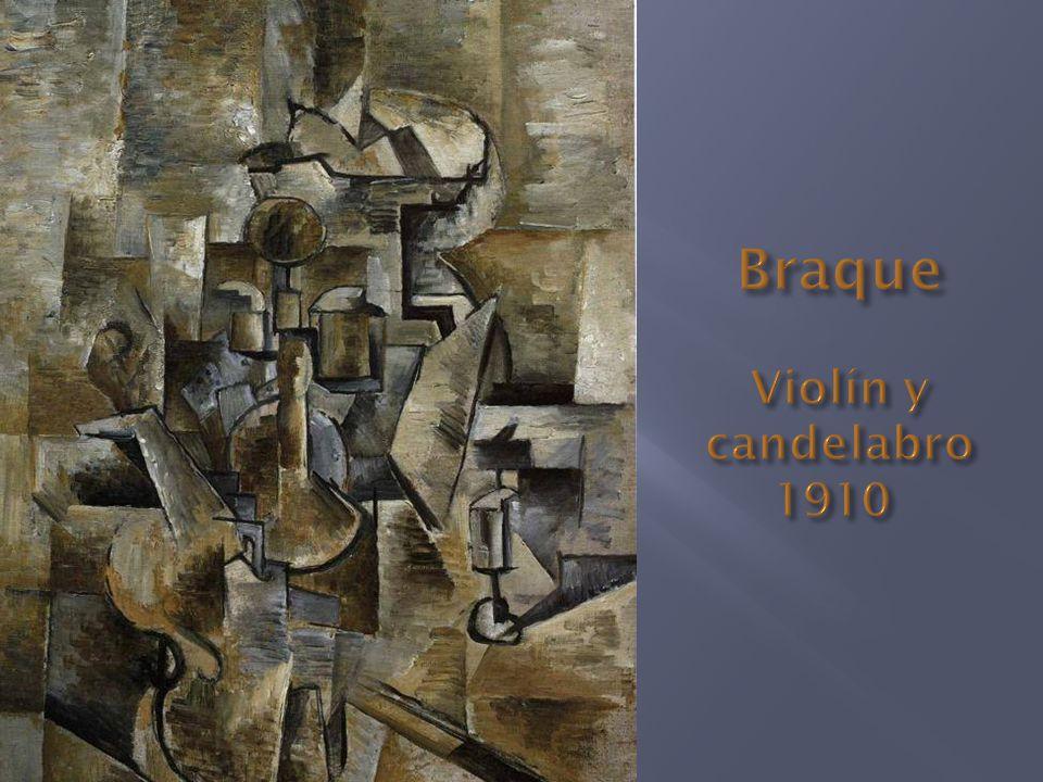 Braque Violín y candelabro 1910