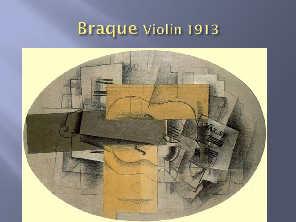 Braque Violín 1913