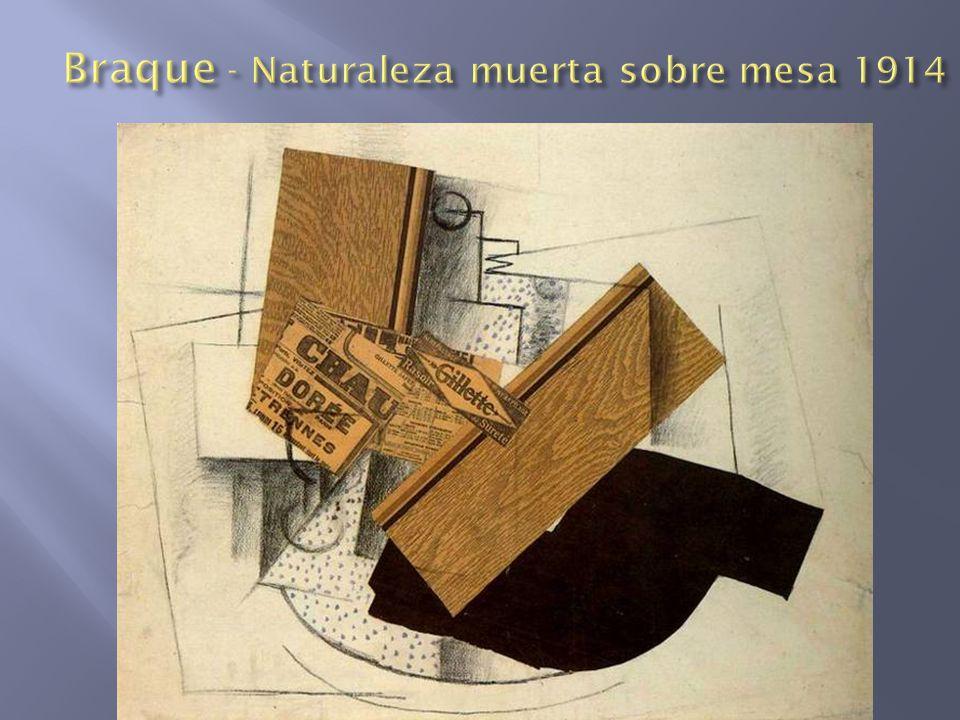 Braque - Naturaleza muerta sobre mesa 1914
