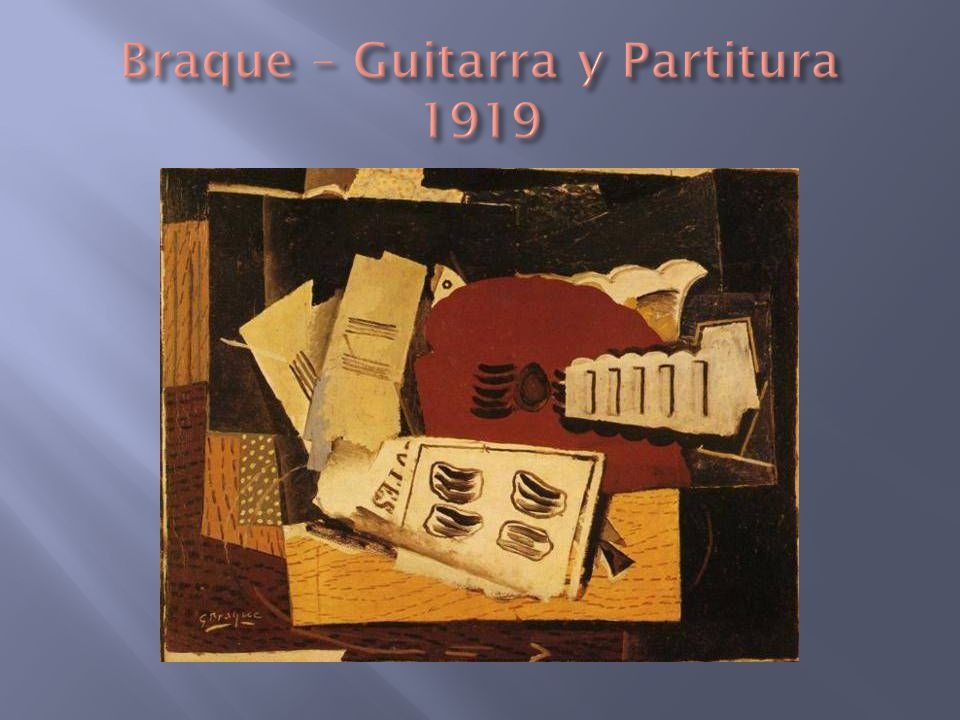 Braque – Guitarra y Partitura 1919