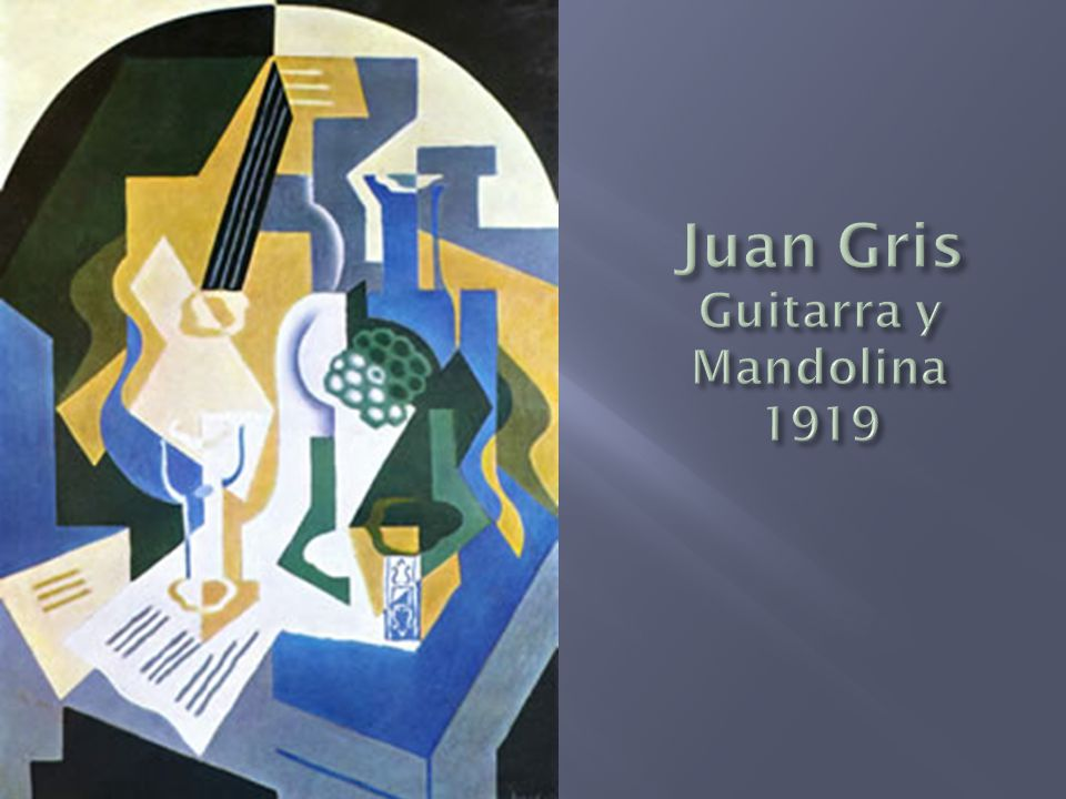 Juan Gris Guitarra y Mandolina 1919