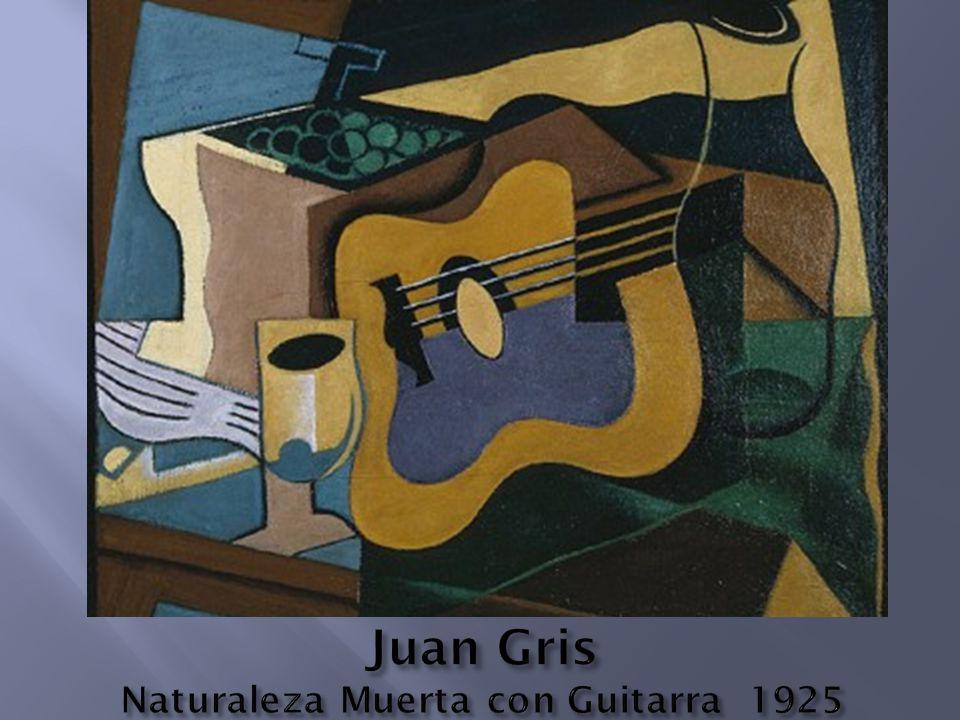 Juan Gris Naturaleza Muerta con Guitarra 1925