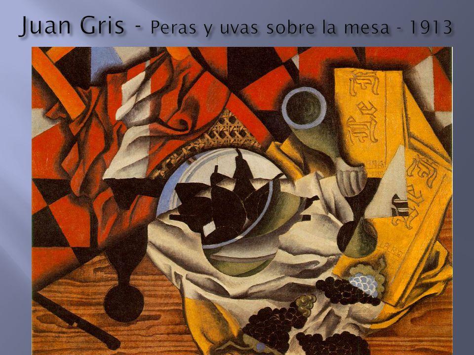 Juan Gris - Peras y uvas sobre la mesa - 1913