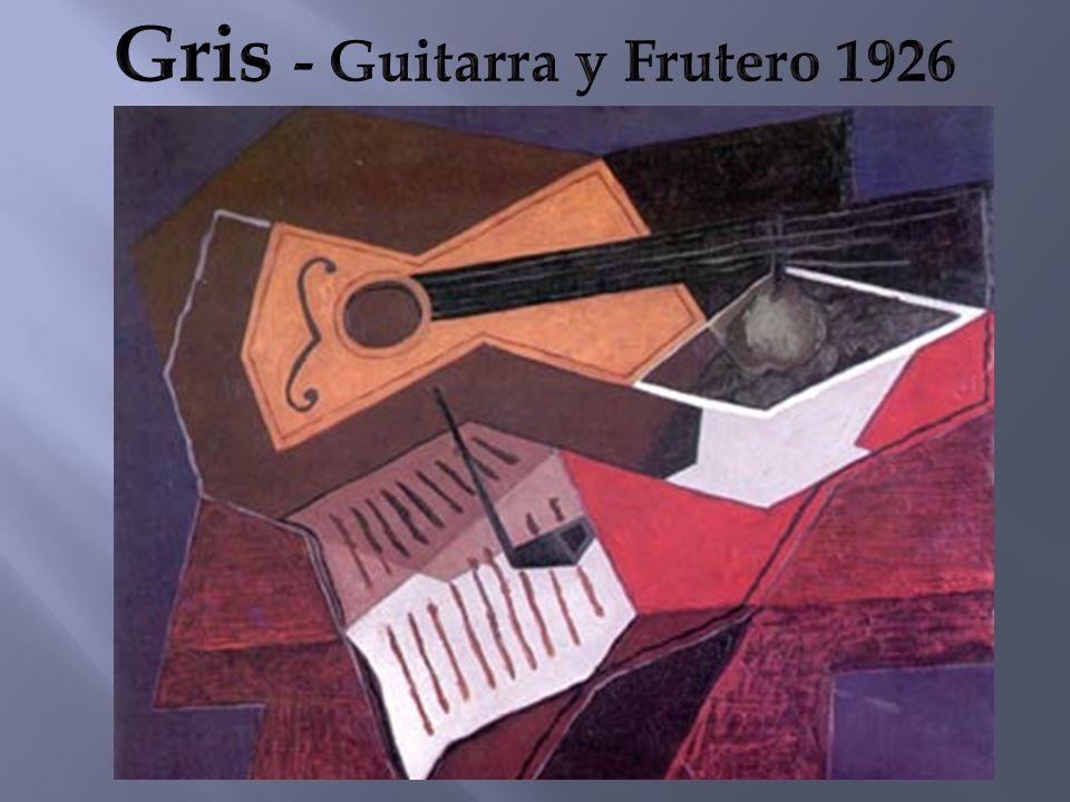 Gris - Guitarra y Frutero 1926