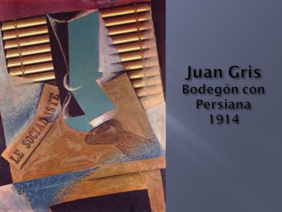 Juan Gris Bodegón con Persiana 1914