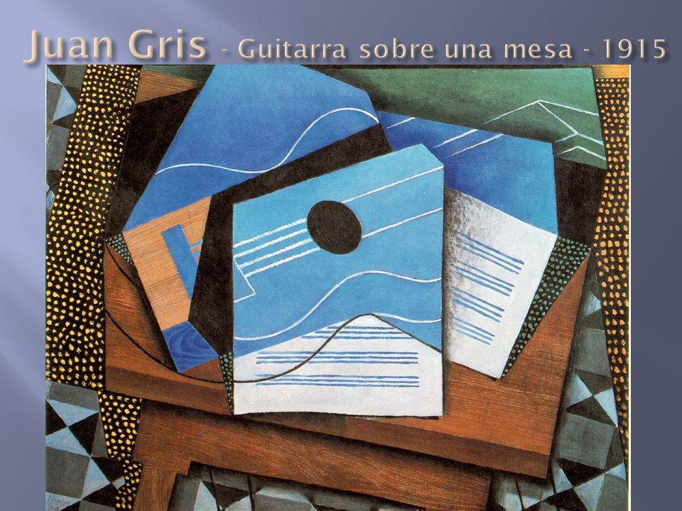 Juan Gris - Guitarra sobre una mesa - 1915