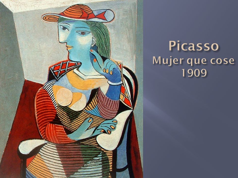Picasso Mujer que cose 1909