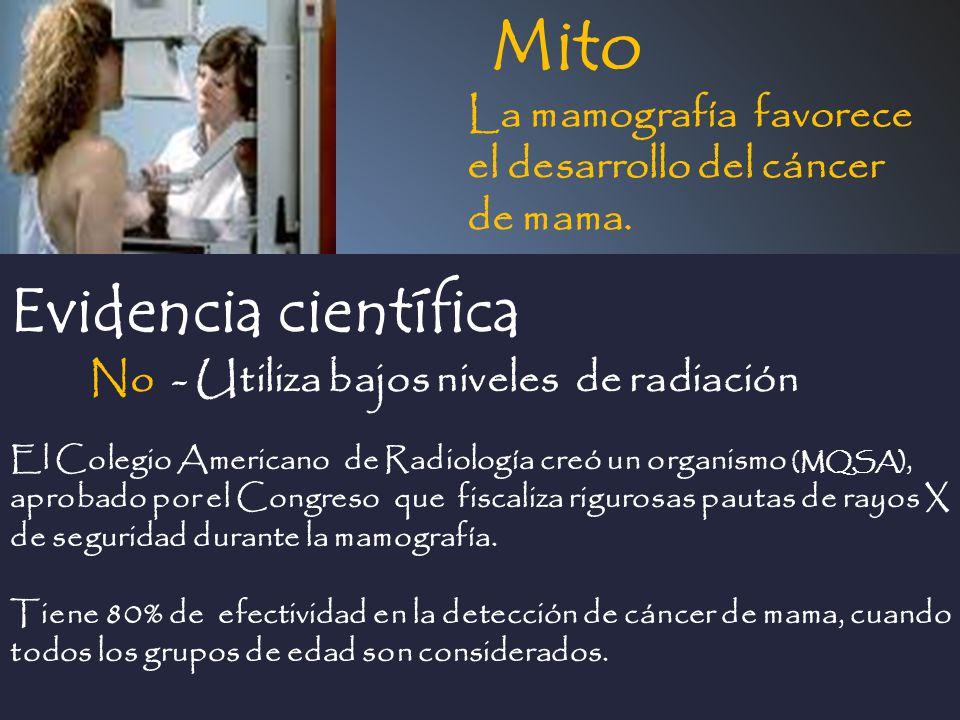 Mito Evidencia científica