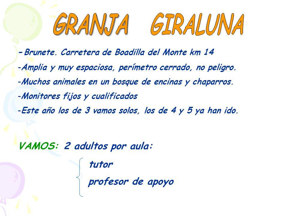 GRANJA GIRALUNA -Brunete. Carretera de Boadilla del Monte km 14
