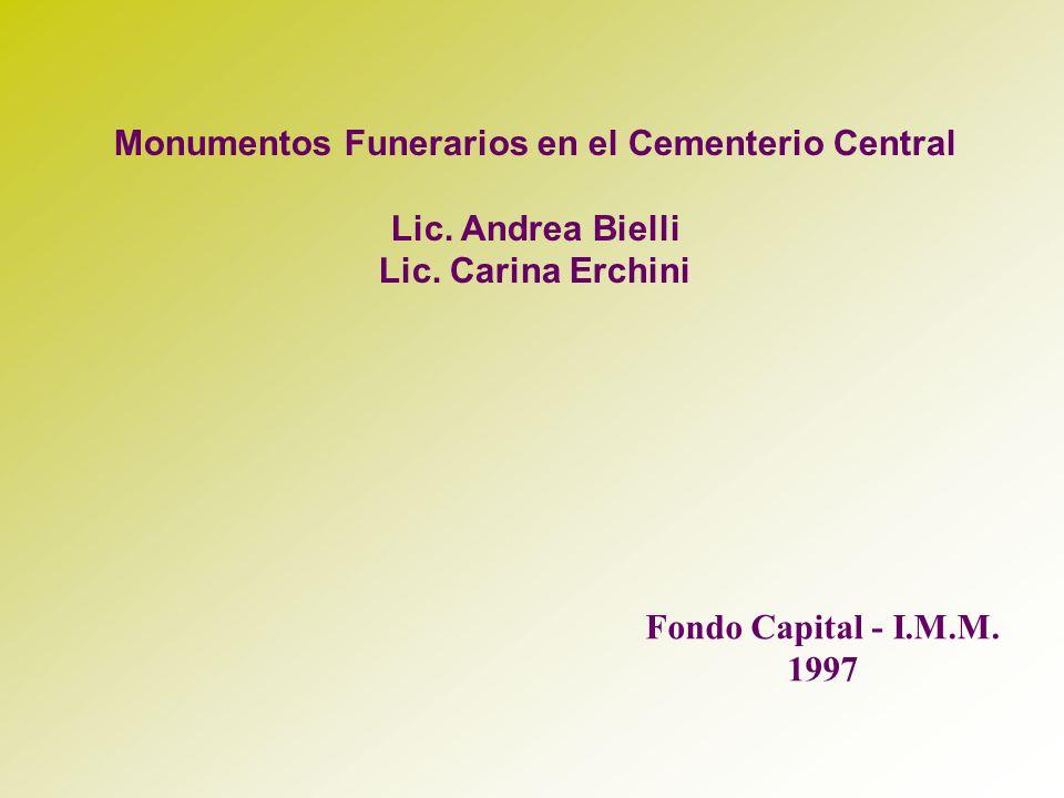 Monumentos Funerarios en el Cementerio Central
