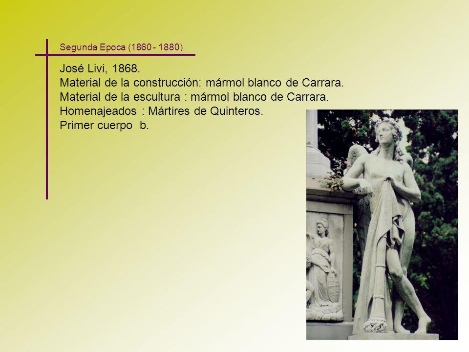 Material de la construcción: mármol blanco de Carrara.