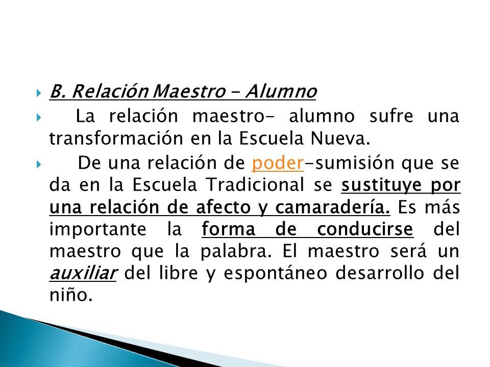 B. Relación Maestro - Alumno