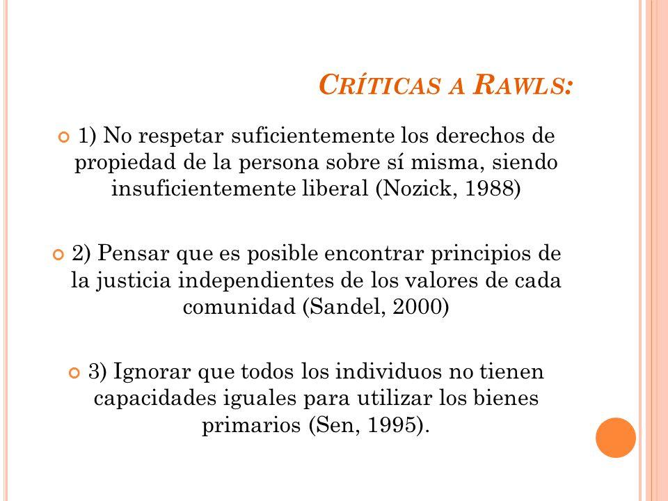 Críticas a Rawls: