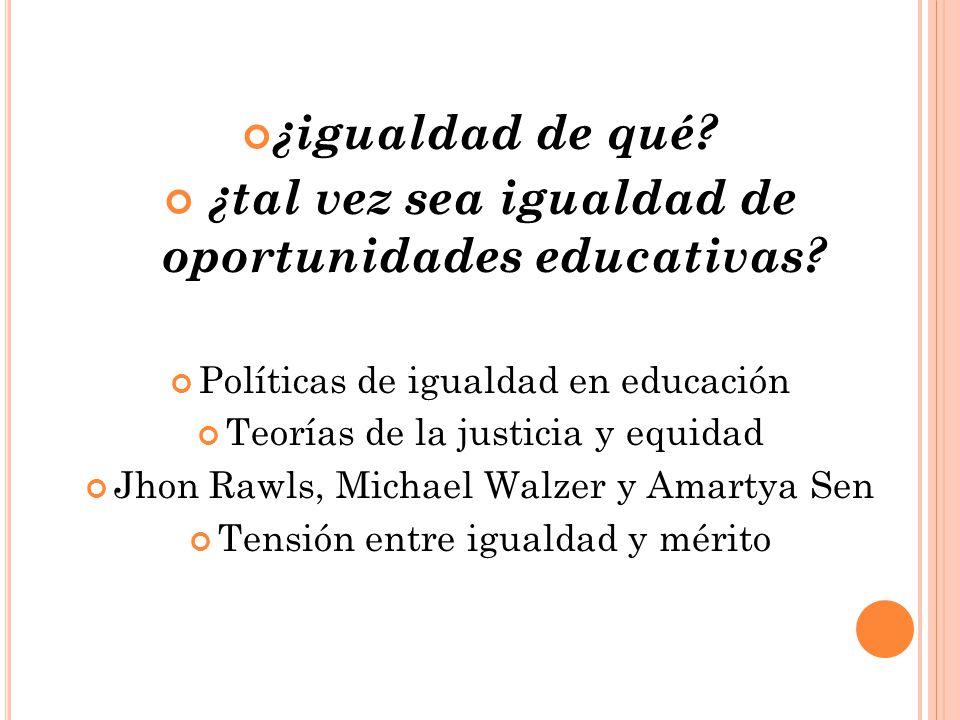 ¿tal vez sea igualdad de oportunidades educativas
