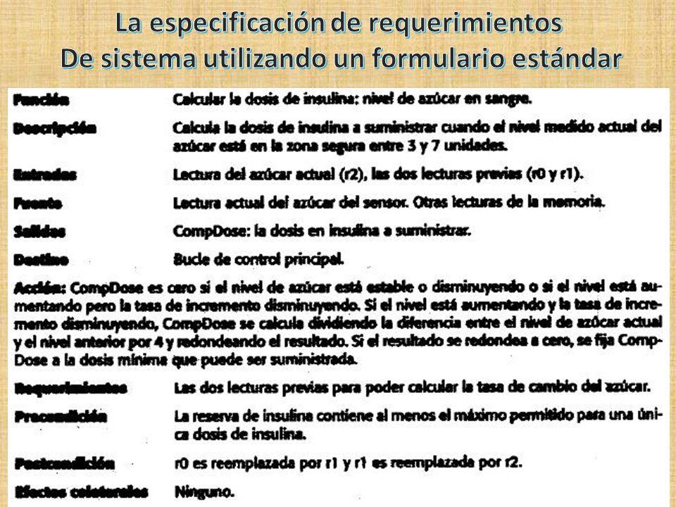 La especificación de requerimientos