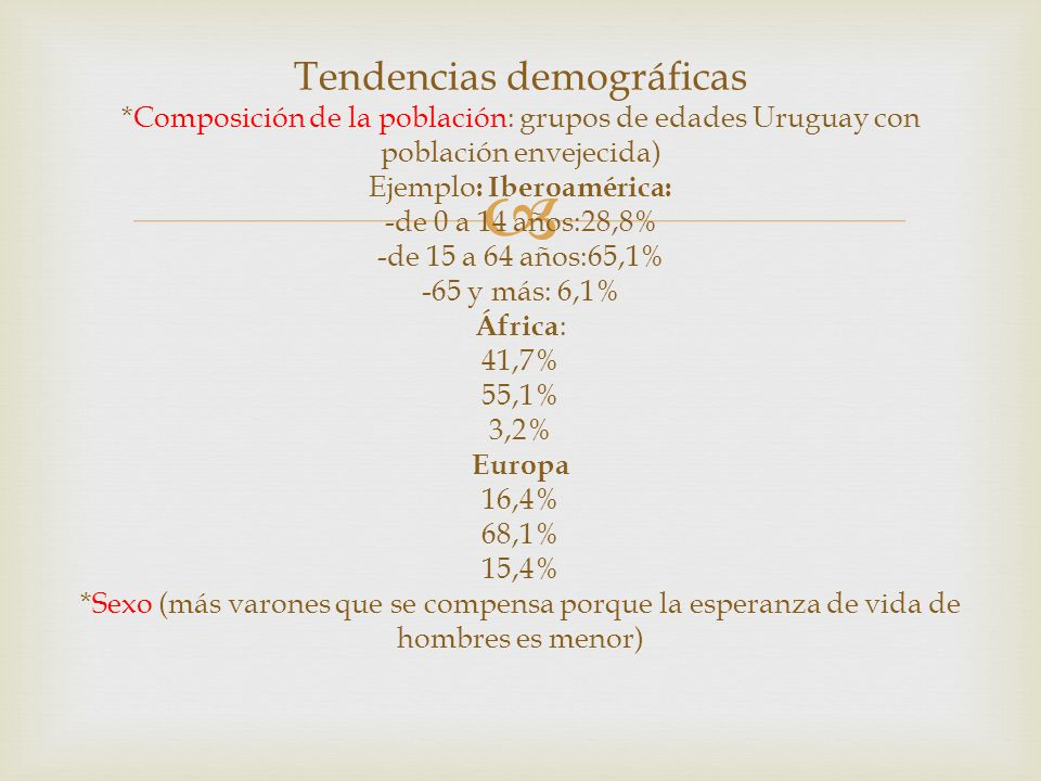 Tendencias demográficas