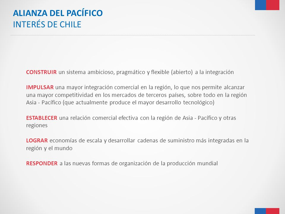 ALIANZA DEL PACÍFICO INTERÉS DE CHILE