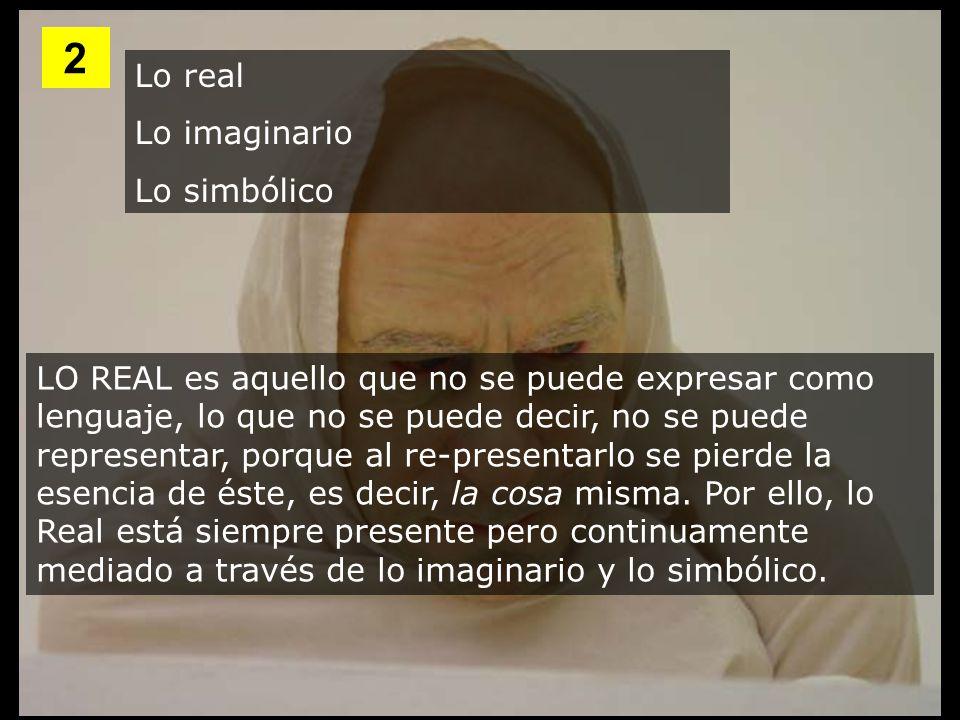 2 Lo real Lo imaginario Lo simbólico