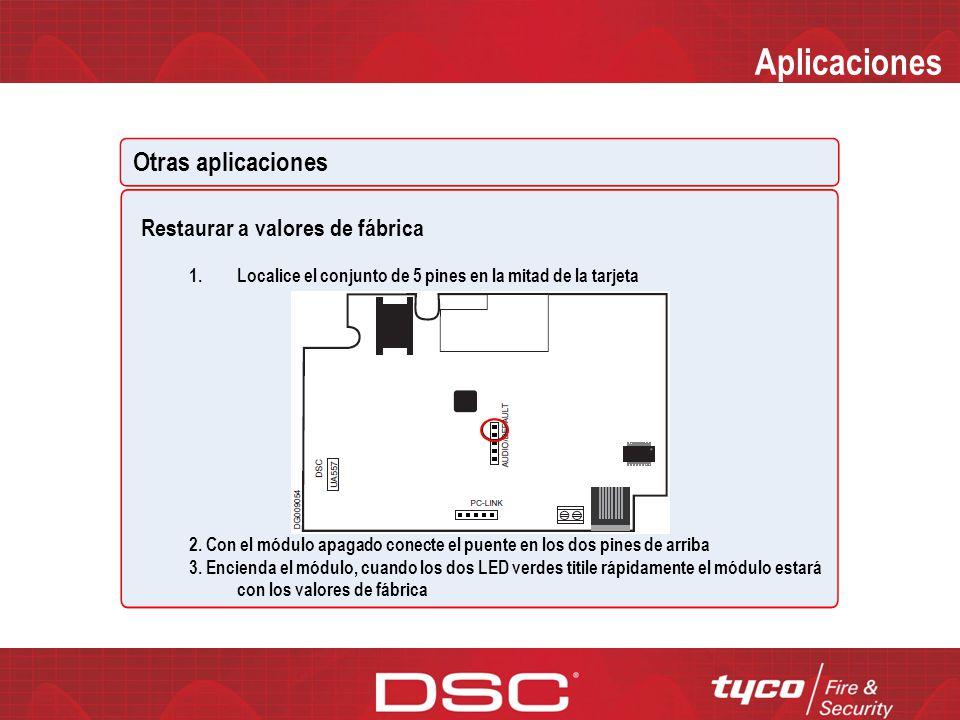 Aplicaciones Otras aplicaciones Restaurar a valores de fábrica