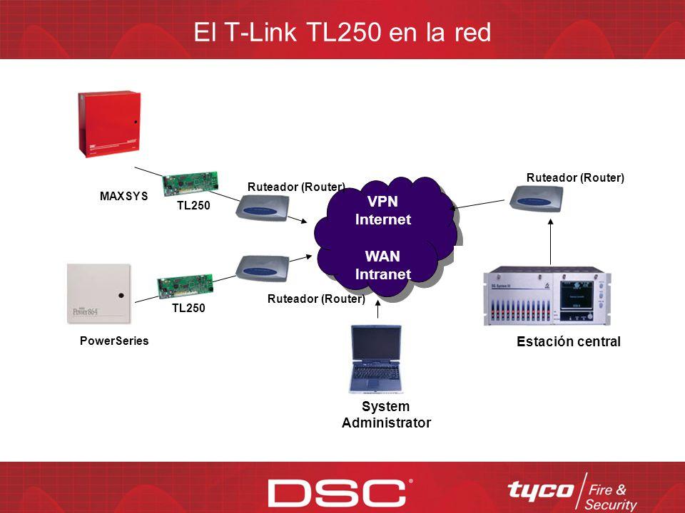 El T-Link TL250 en la red VPN Internet WAN Intranet Estación central