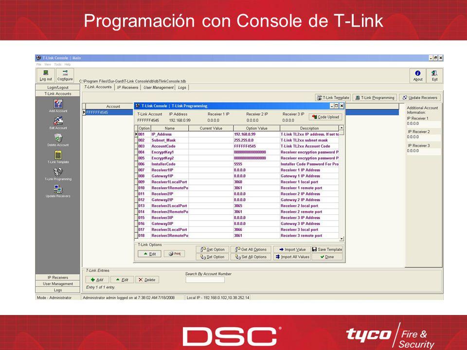 Programación con Console de T-Link